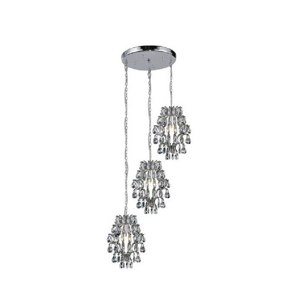 CWI Lighting Charismatic 24 inch 6 Light Chandelier with Chrome Finish