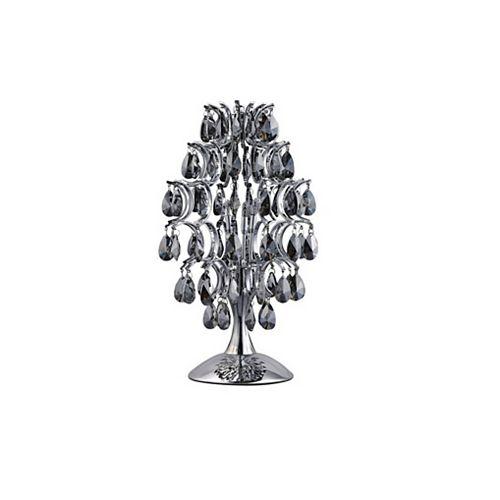 9 pouce Charismatic 3-Lumière Lampe de table avec Fini chromé