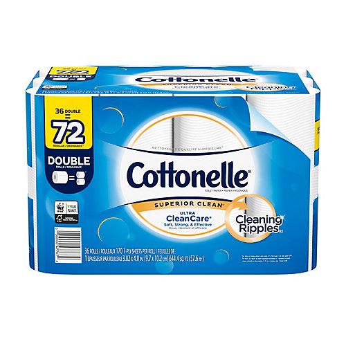 Papier hygiénique robuste Ultra CleanCare, 36 rouleaux doubles