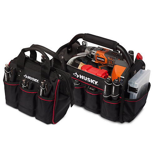 14-inch Pro Tool Tote and 10-inch Tool Bag Set