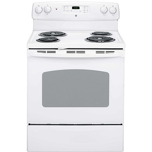 30-inch 5.0 cu.ft. Single Oven Electric Range with Self-Cleaning Oven in White