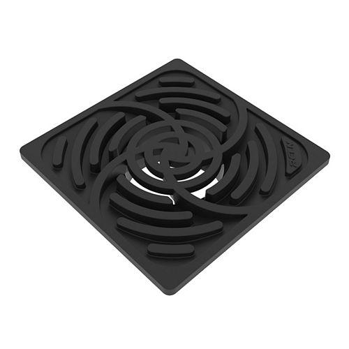 6 inch Square Black Grate