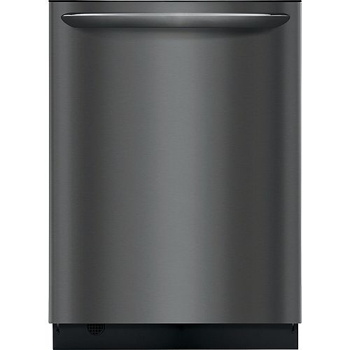 Frigidaire Gallery 24-inch Top Control Built-In Tall Tub Dishwasher in Smudge-Proof Black Stainless Steel - ENERGY STAR®