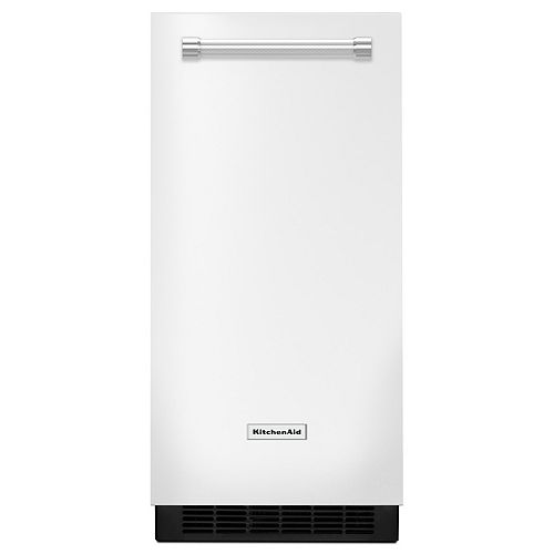 15-inch W 25 lb. Automatic Ice Maker in White