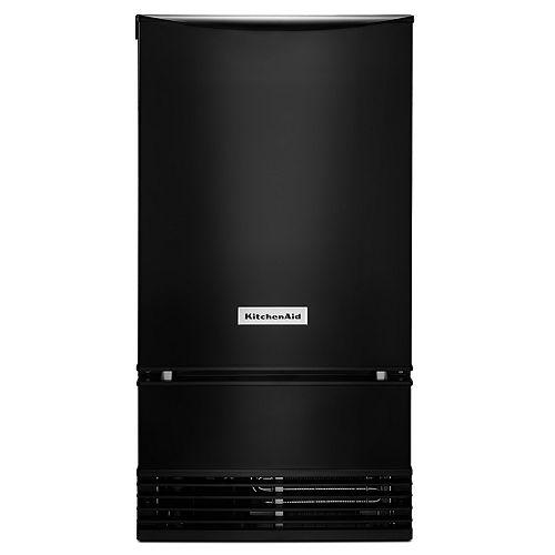 18-inch W 35 lb. Automatic Ice Maker in Black