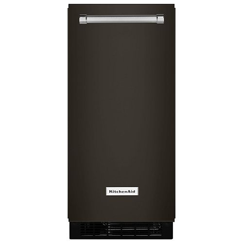 15-inch W 25 lb. Automatic Ice Maker in PrintShield Black Stainless Steel