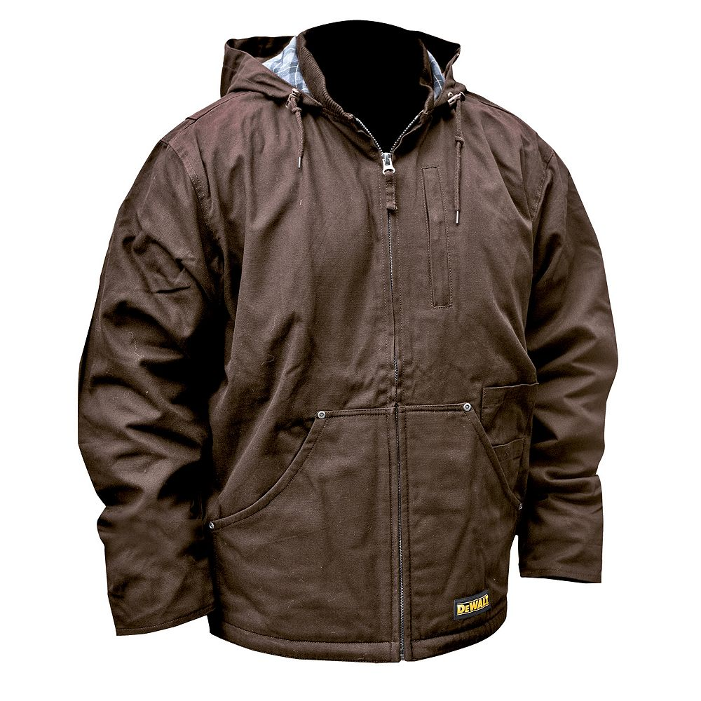DEWALT Heated Heavy Duty Work Coat with 20 V Max Battery, Charger and Adapter