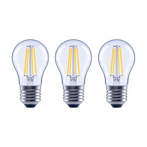 Ecosmart Ampoule DEL à int. var. à filament en verre class. A15, 60 W, lumière naturelle, trans., ens. de 3
