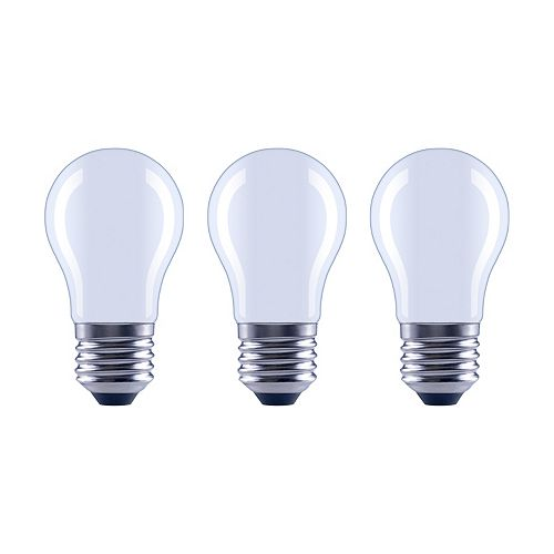 Ecosmart 60W Frosted Daylight A15 Classic Glass Filament Dimmable LED Light Bulb (3-Pack)