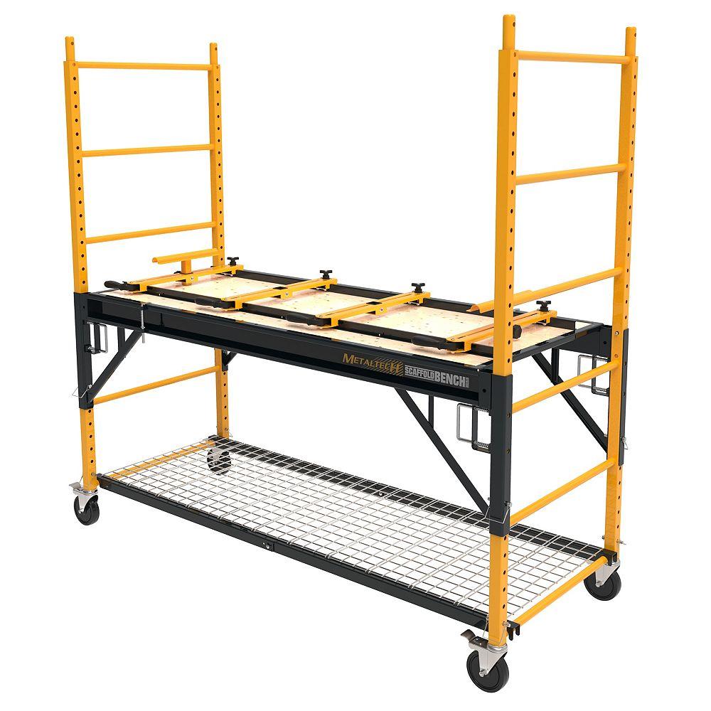 Metaltech Scaffold Bench Multipurpose 4-in-1 6 ft. Baker Scaffold