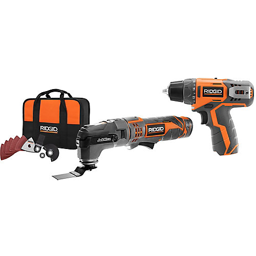 12V Lithium-Ion Cordless Jobmax Multi-Tool Starter Kit w/ 2.0Ah Battery & Bonus Drill