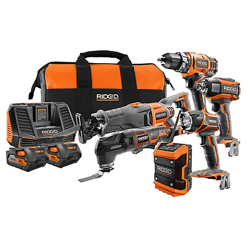 18V Cordless Combo Kit (6-Tool) with (2) 4.0Ah Batteries