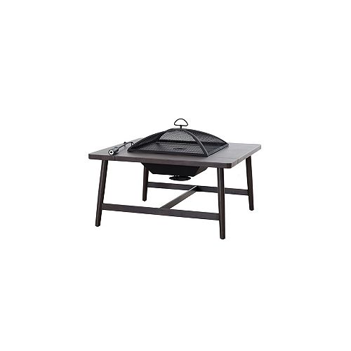 Hampton Bay Crestwick Wood Burning Fire Pit Table
