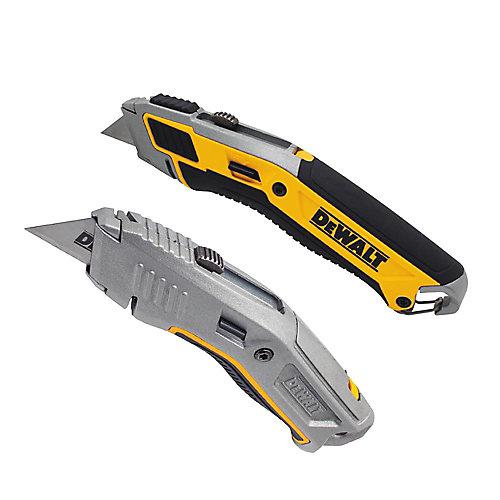 Couteau utilitaire rétractable (paquet de 2)