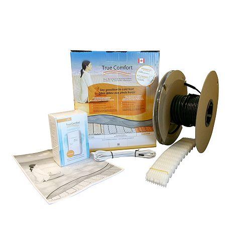 Kit électrique pour plancher chauffant - 120 volts - couvre 10 pi car