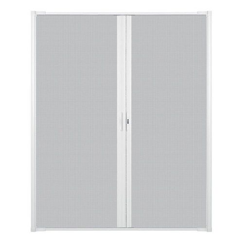 Luminaire Retractable Screen for Double Doors 68-inch to 72 inch Wide in White