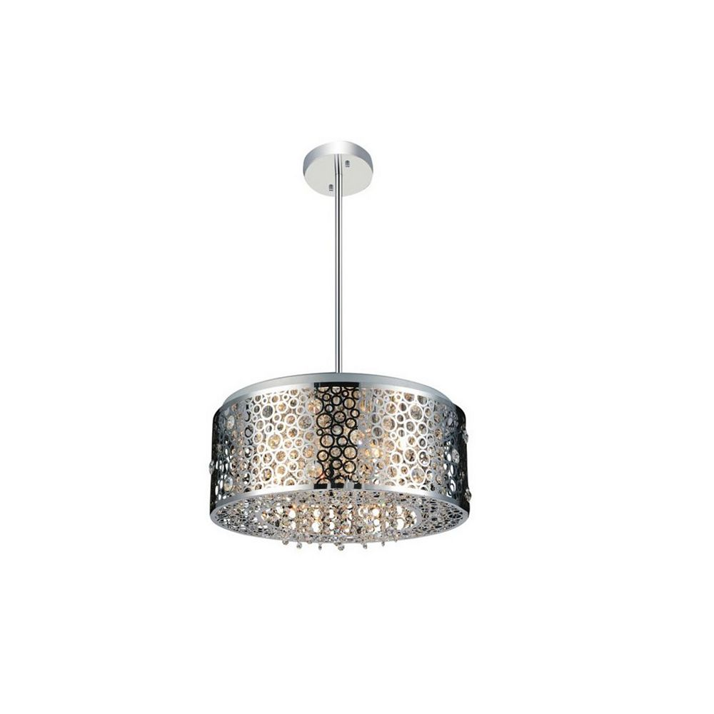 CWI Lighting Bubbles 20 inch 7 Light Chandelier with Chrome Finish