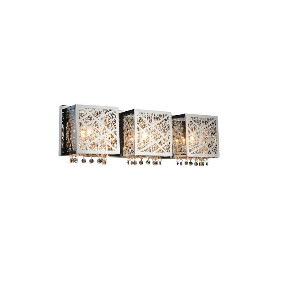 CWI Lighting Eternity 23 inch 3 Light Wall Sconce with Chrome Finish