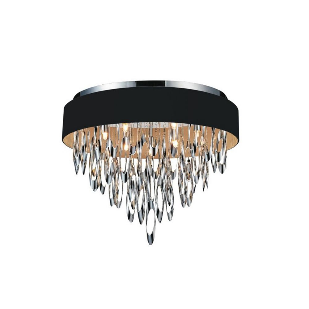 CWI Lighting Excel 23-inch 9 Light Flush Mount with Chrome Finish