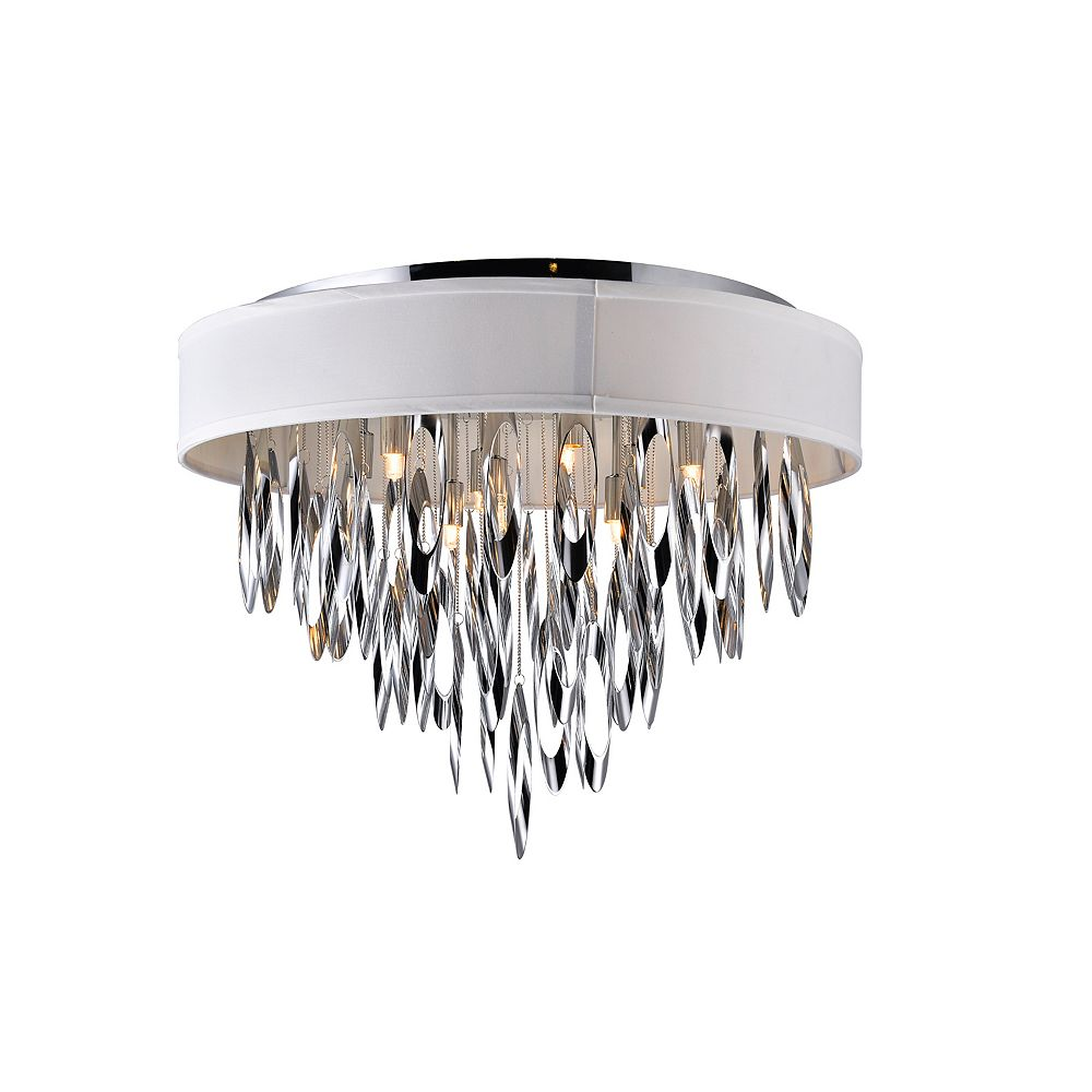 CWI Lighting Excel 23 inch 9 Light Flush Mount with Chrome Finish