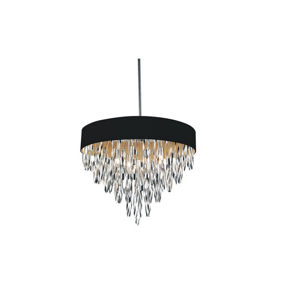 CWI Lighting Excel 23-inch 8 Light Chandelier with Chrome Finish