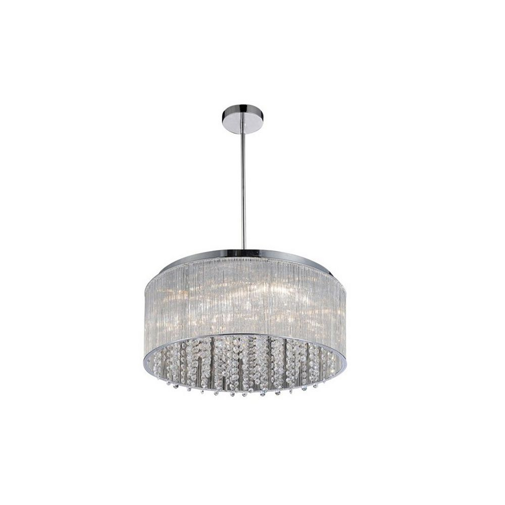 CWI Lighting Spring Morning 20 inch 7 Light Chandelier with Chrome Finish