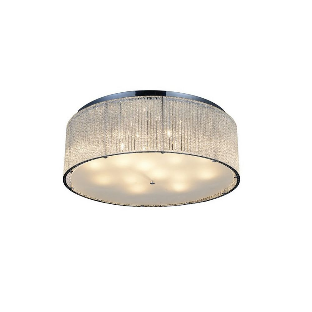 CWI Lighting Colbert 24 inch 14 Light Flush Mount with Chrome Finish