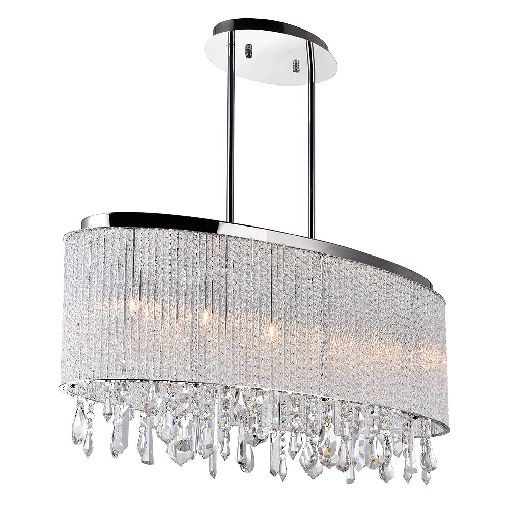 CWI Lighting Benson 10-inch 5 Light Chandelier with Chrome Finish