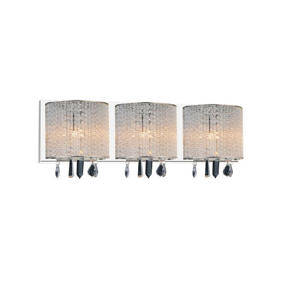 CWI Lighting Benson 25 inch 3 Light Wall Sconce with Chrome Finish