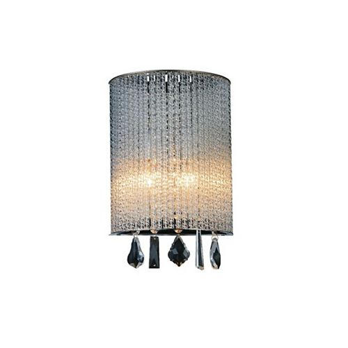CWI Lighting Benson 8 inch 1 Light Wall Sconce with Chrome Finish