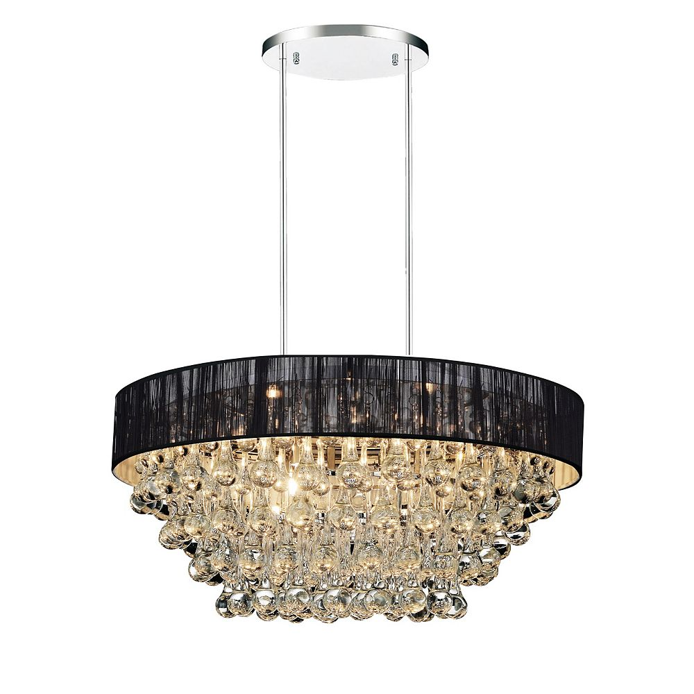 CWI Lighting Atlantic 18-inch 6 Light Chandelier with Chrome Finish