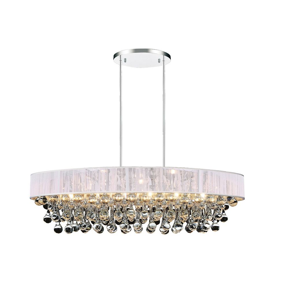 CWI Lighting Atlantic 30 inch 6 Light Chandelier with Chrome Finish