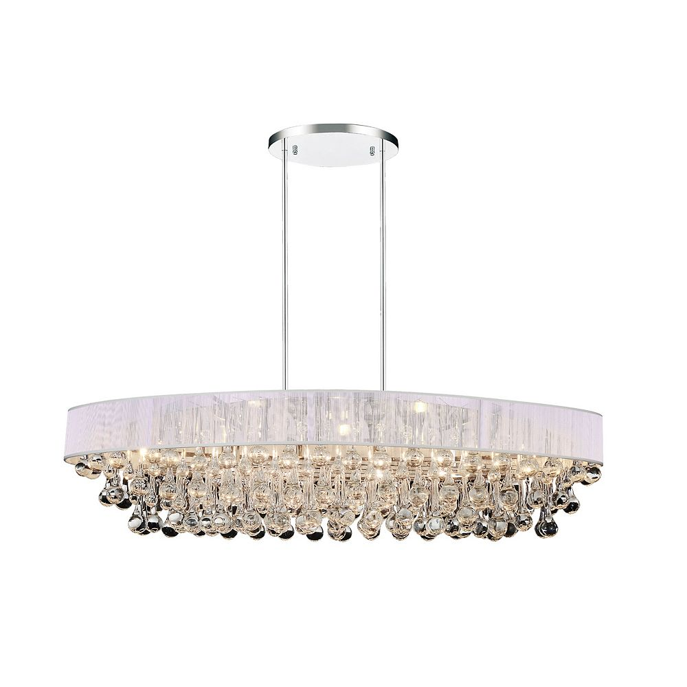 CWI Lighting Atlantic 36 inch 10 Light Chandelier with Chrome Finish