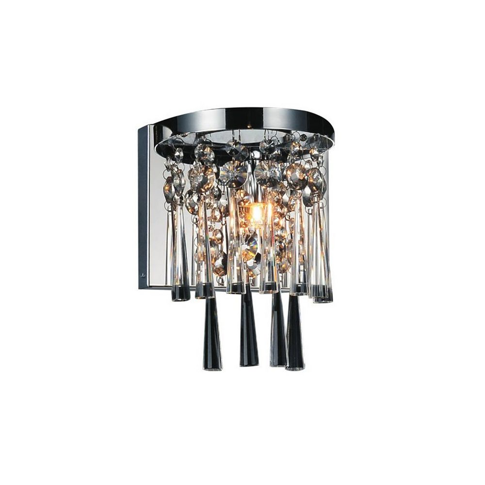 CWI Lighting Blissful 6 inch 1 Light Wall Sconce with Chrome Finish