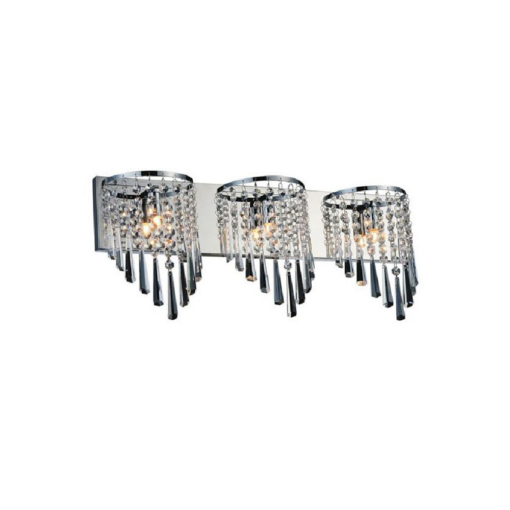 CWI Lighting Della 23 inch 3 Light Wall Sconce with Chrome Finish