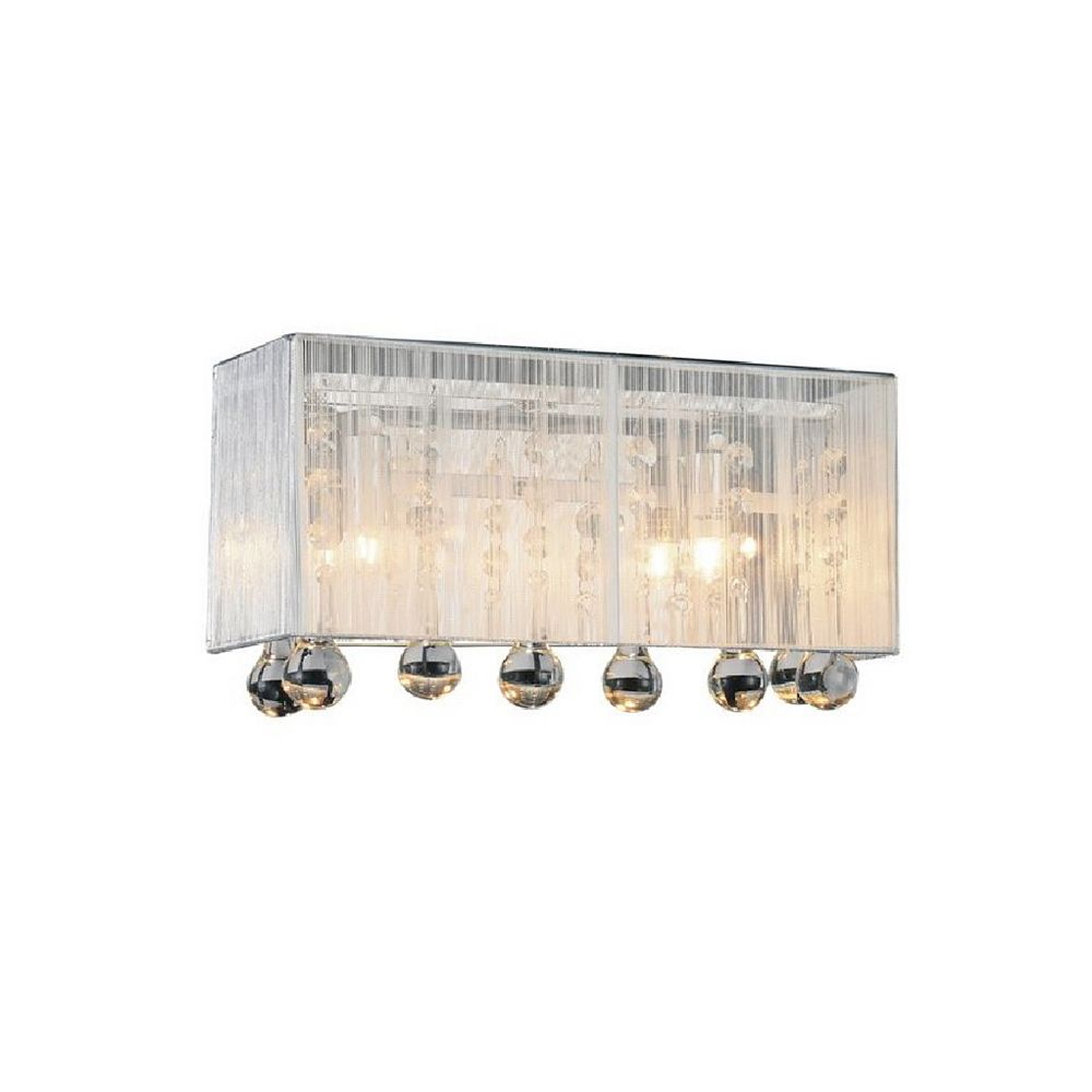 CWI Lighting Water Drop 12-inch 2 Light Wall Sconce with Chrome Finish
