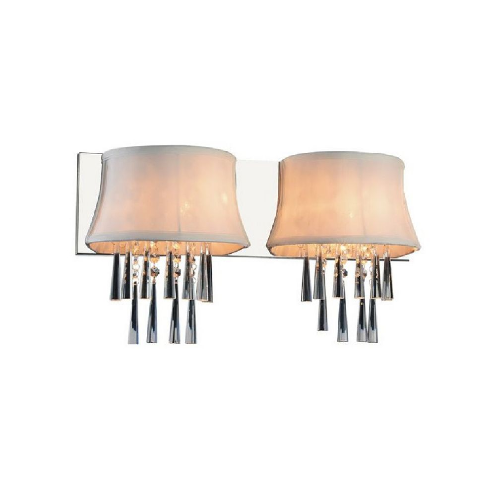 CWI Lighting Audrey 21 inch 2 Light Wall Sconce with Chrome Finish