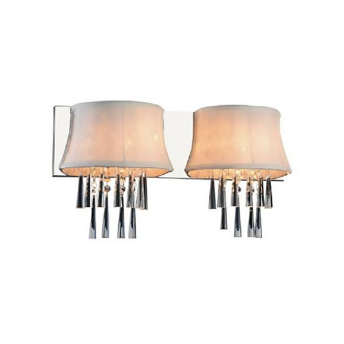Audrey 21 inch 2 Light Wall Sconce with Chrome Finish
