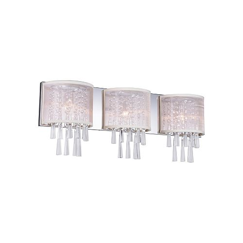 29 pouce Renee 3-Lumière Applique murale avec Fini chromé