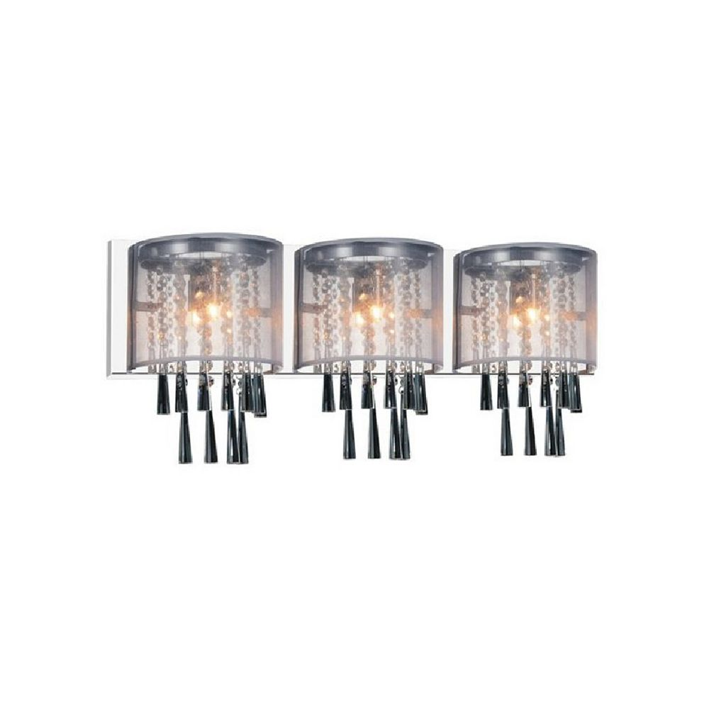 CWI Lighting Renee 29 inch 3 Light Wall Sconce with Chrome Finish