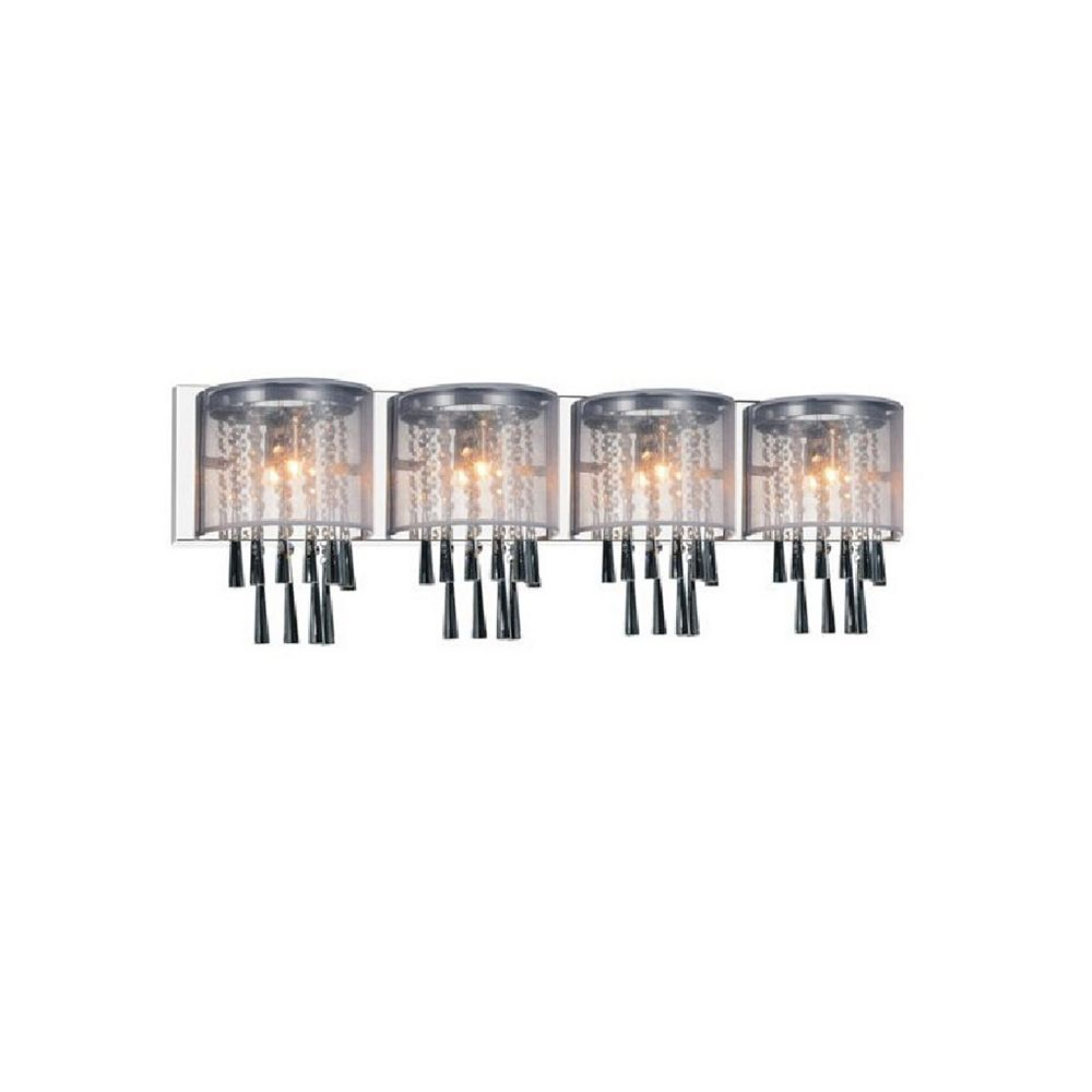 CWI Lighting Renee 39 inch 4 Light Wall Sconce with Chrome Finish