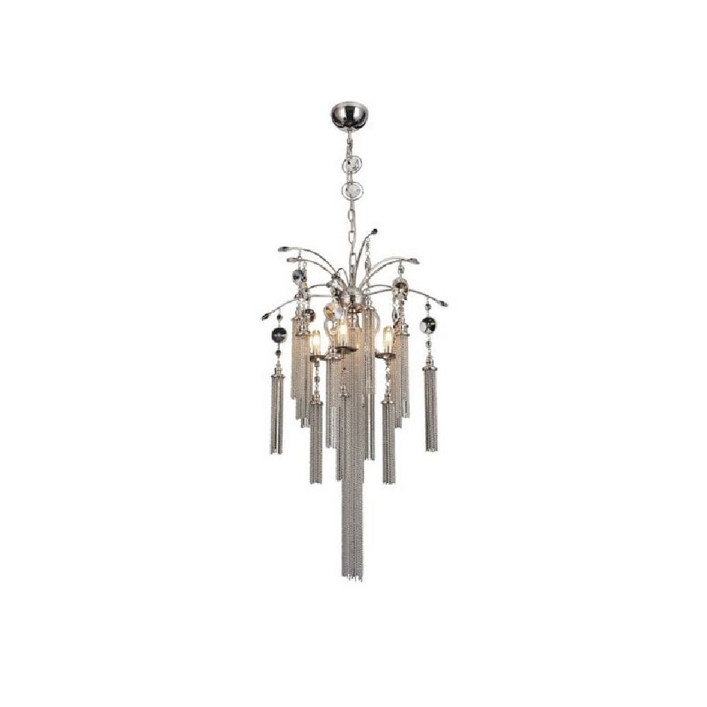 CWI Lighting Chloe 18 inch 5 Light Chandelier with Chrome Finish