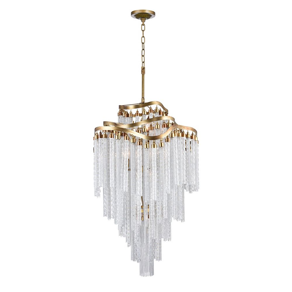 CWI Lighting Storm 26 inch 14 Light Chandelier with Gold Finish