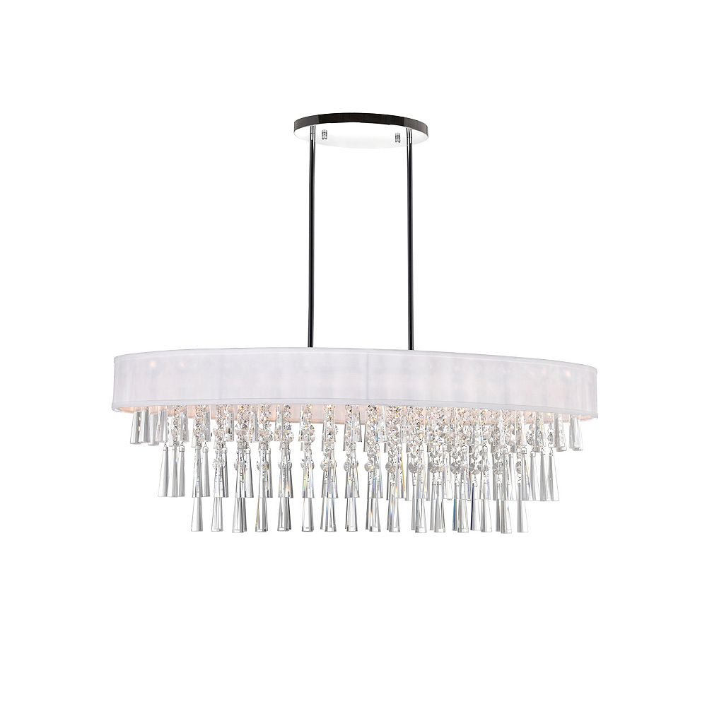 CWI Lighting Franca 38 inch 8 Light Chandelier with Chrome Finish