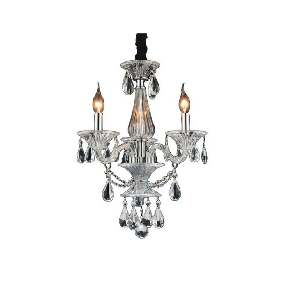 CWI Lighting Lexis 18 inch 3 Light Chandelier with Chrome Finish