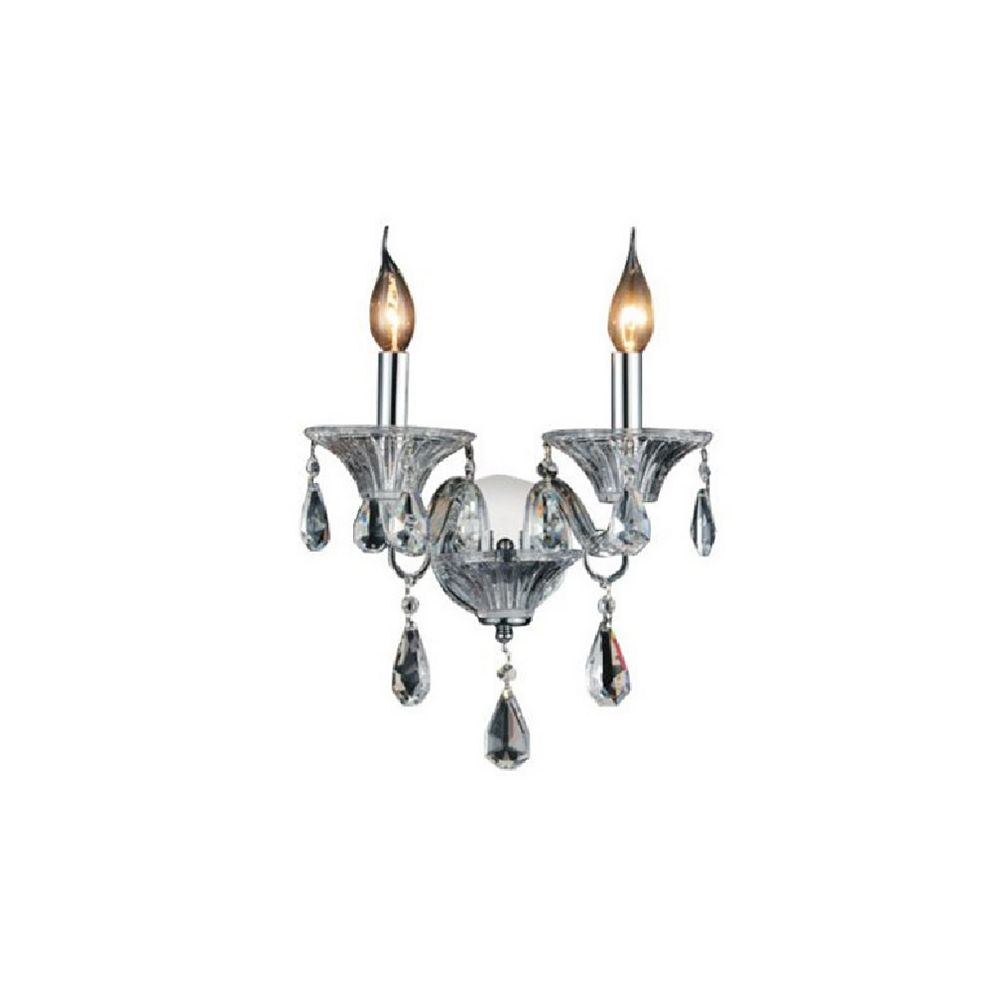 CWI Lighting Lexis 11 inch 2 Light Wall Sconce with Chrome Finish