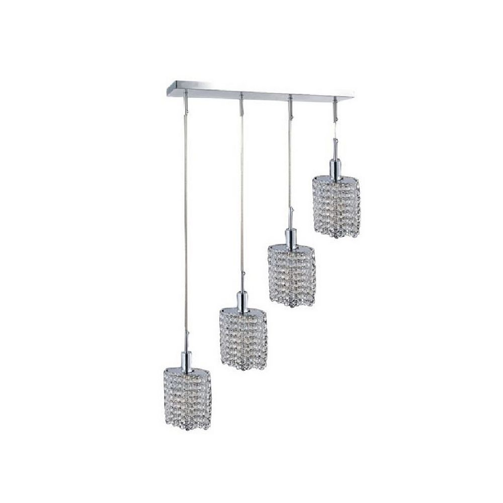 CWI Lighting Glitz 32-inch 4 Light Chandelier with Chrome Finish