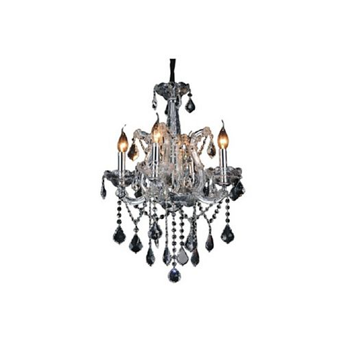 CWI Lighting Maria Theresa 18 inch 4 Light Chandelier with Chrome Finish