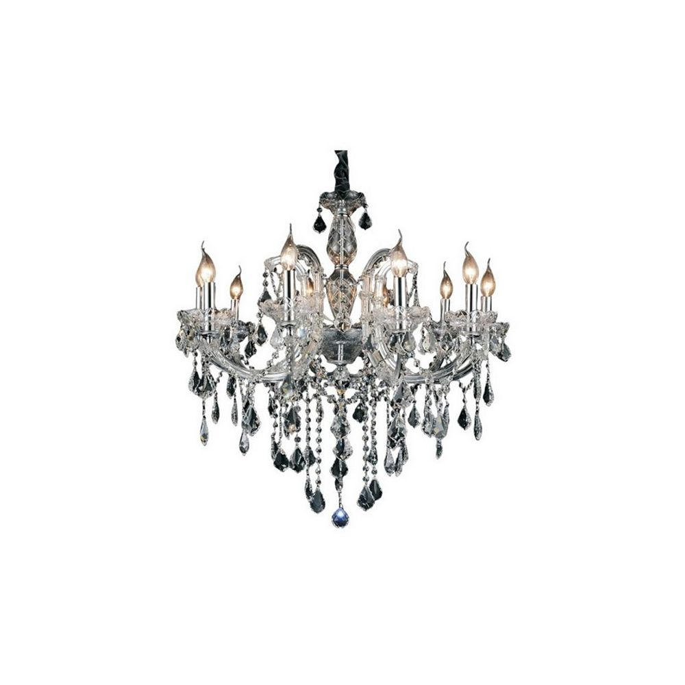 CWI Lighting Riley 32 inch 10 Light Chandelier with Chrome Finish