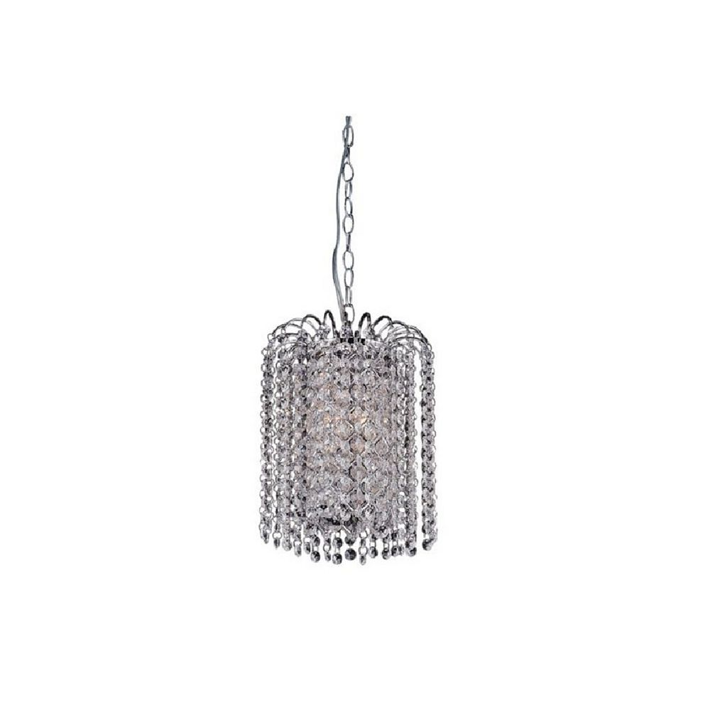 CWI Lighting Prism 8 inch 3 Light Mini Pendant with Chrome Finish